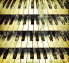 Background piano keys Stock Photos
