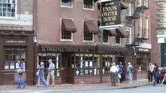 Union Oyster House Boston Stock Footage