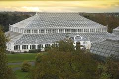 Temperate House at dusk - stock photo