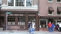 Union Oyster House Boston Pan Stock Footage