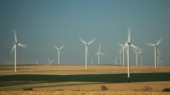 Clean and Renewable Energy, Wind Power, Turbine, Windmill, Production time lapse Stock Footage