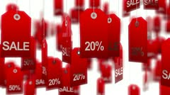 Sale. Animated tags - stock footage
