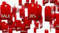 Stock Video Footage of Sale. Animated tags
