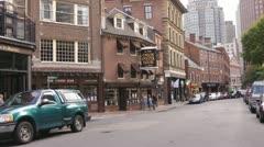 Union Street Boston Stock Footage