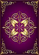 Purple abstract background Stock Illustration