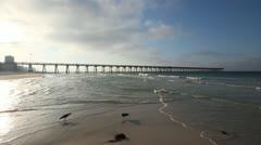 Early Morning Fishing Pier - Panama City Beach Stock Footage