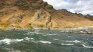 River Rafting in Hells Canyon Stock Footage