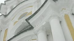 Bell tower of the ancient temple Stock Footage