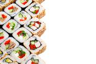 Sushi roll big set with different components Stock Photos