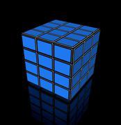 video cube of flat tv screens - stock illustration
