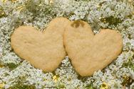 Stock Photo of shortbread delicious heart-shaped