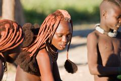himba woman portrait - stock photo