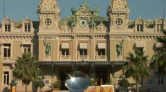 Monte Carlo Casino Zoom-out Stock Footage