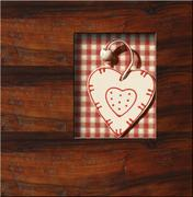 love wooden background, country style - stock photo