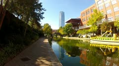Bricktown & Riverwalk In Oklahoma City, OK Stock Footage