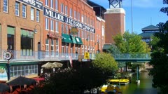 Riverwalk & Bricktown In Oklahoma City Stock Footage