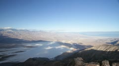 The view of Badwater Basin from Dante's view in Death Valley Stock Footage