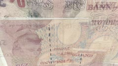 English Pound Notes Animation Stock Footage