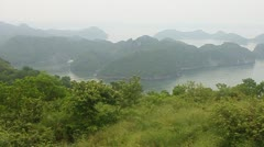 Islands around Cat Ba island Stock Footage