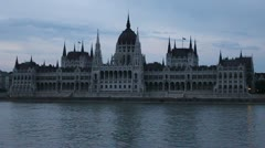 Building of Hungarian Parliament Stock Footage