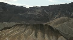 View from Zabriskie Point, towards Furnace Creek; Death Valley, California Stock Footage