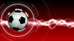 Soccer Ball Sport Background 04 (HD) - stock footage