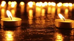 2 Candles Background - stock footage