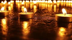 Many Candles Burning 2 - stock footage