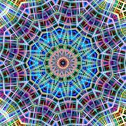Kaleidoscopic colorful abstract pattern. Stock Illustration