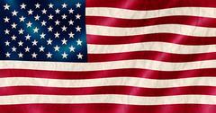 USA flag old crinkled effect illustration. - stock illustration