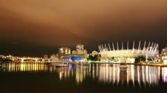 3 Shots of Stadium in Downtown Vancouver Stock Footage