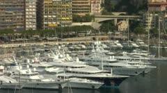 Monaco Harbour Stock Footage