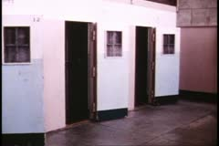 Stock Video Footage of San Francisco, 1970's, Alcatraz prison, inside, solitary confinement cells