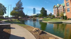 Tourist Boat On Oklahoma City Riverwalk Stock Footage