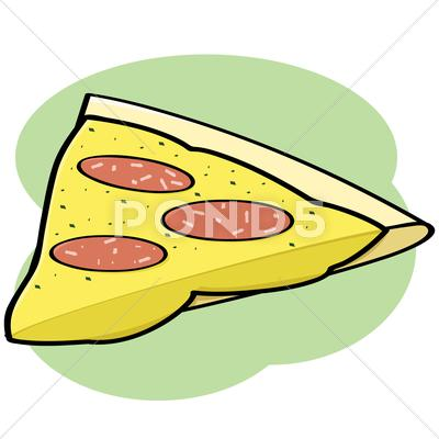 Stock Illustration of pizza slice