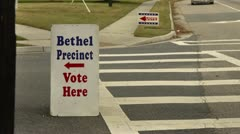 voting precinct - stock footage