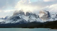 Incredible sunset timelapse of Torres del Paine Stock Footage