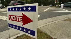 Vote sign Stock Footage