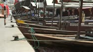 Dhow at the creek Stock Footage
