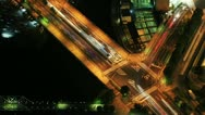 Stock Video Footage of Time Lapse of Busy Crossroads in Yokohama, Japan