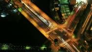 Time Lapse of Busy Crossroads in Yokohama, Japan Stock Footage