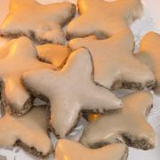 yellow illumiated cinnamon stars - stock photo