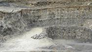Stock Photo of stone pit walls