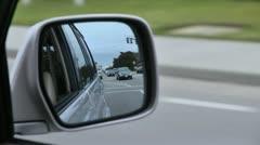 Car mirror slo mo Stock Footage