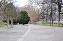 avenue in the park - stock photo