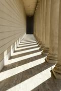 pillars in a row - stock photo