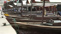 dhow at the creek - stock footage