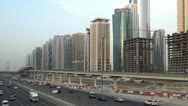 Stock Video Footage of Sheikh zayed road and skyscrapers day