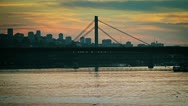Stock Video Footage of Bridge at sunset