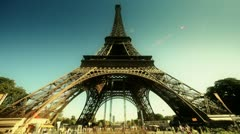 Eiffel Tower. Paris, France. - stock footage